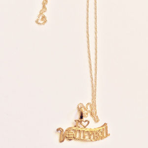 Jewelry - 14K Gold I Love Volleyball Necklace